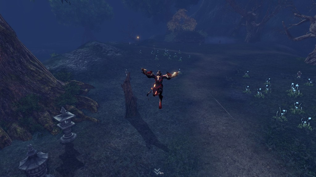 Gliding in the free to play martial arts MMORPG Blade and Soul
