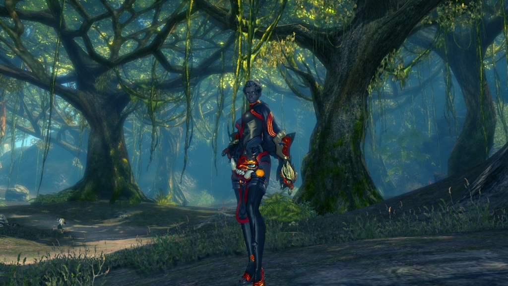 A kung fu master character in the free to play martial arts MMORPG Blade and Soul