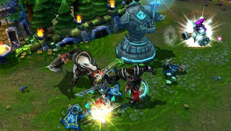 A screenshot from the MOBA League of Legends