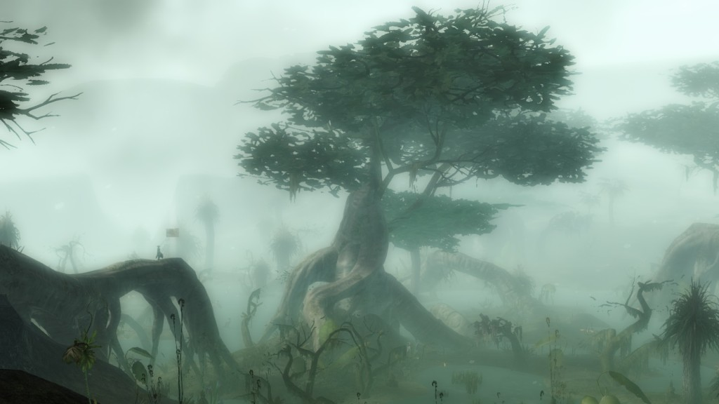 A landscape in the high fantasy MMORPG Guild Wars 2