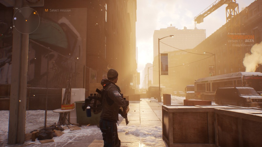 A screenshot from the open beta of MMO shooter The Division
