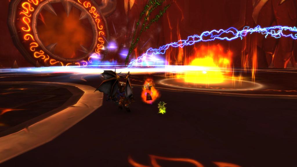 A raid boss encounter in World of Warcraft