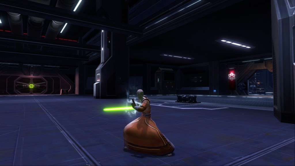 A Jedi consular character in Star Wars: The Old Republic