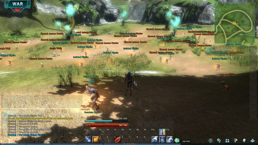 A morass of quest spawns in Trinium Wars