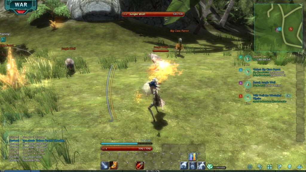 Combat in the MMORPG Trinium Wars