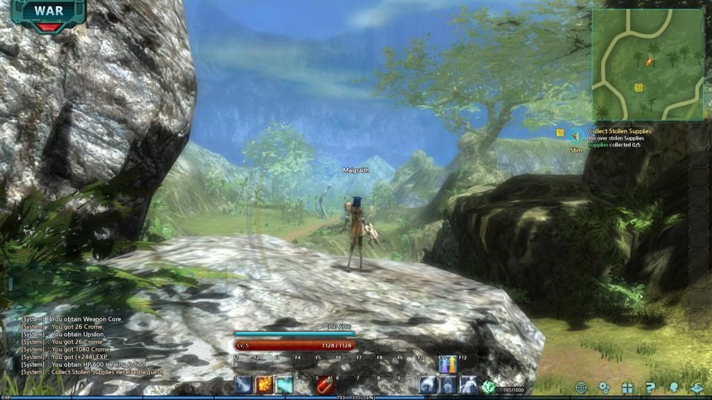 A landscape in the MMORPG Trinium Wars