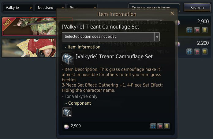 text of the treant camolage set