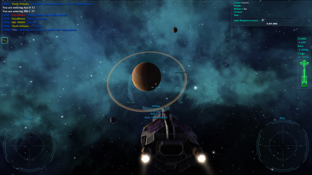 A planet in the space MMO Vendetta Online