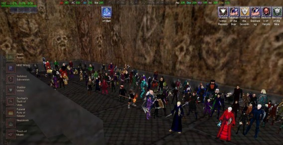 A raid group in EverQuest