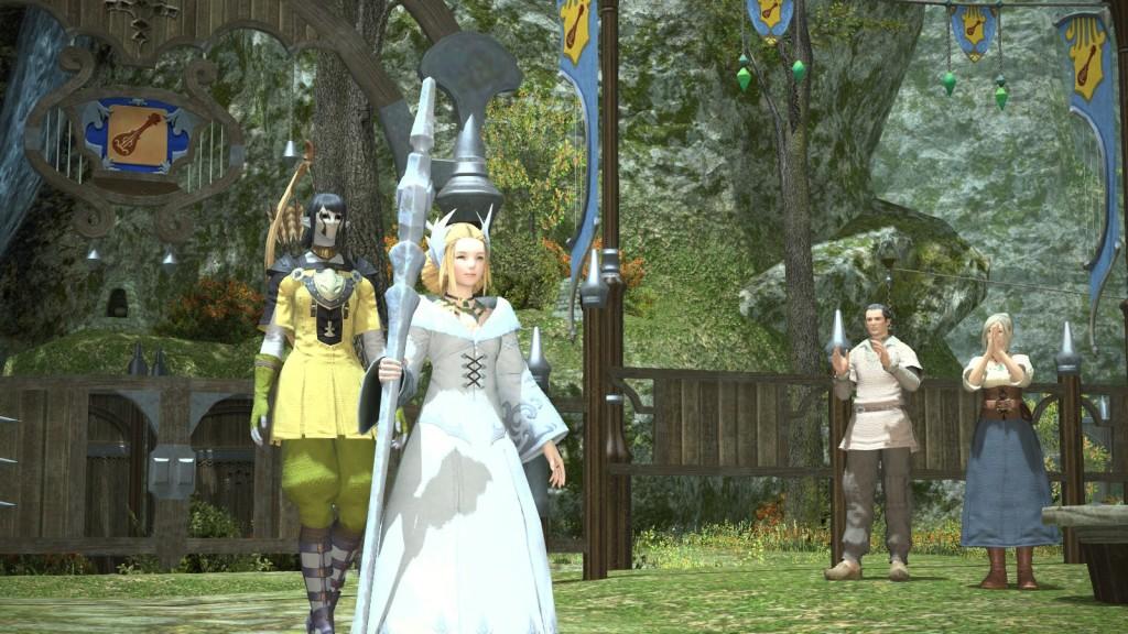 A cutscene in Final Fantasy XIV: A Realm Reborn