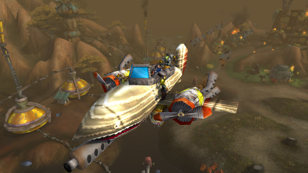 An interesting method of escape in World of Warcraft