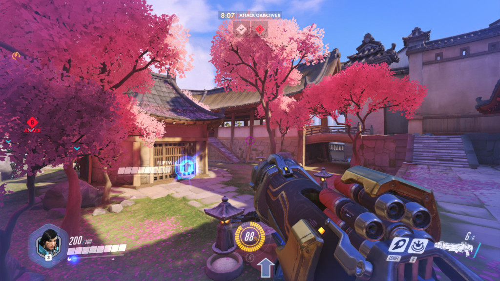The Hanamura map in Overwatch