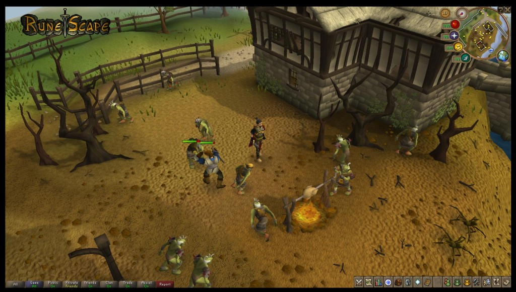 A screenshot of the free to play MMORPG RuneScape