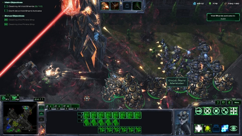 A co-op mission in StarCraft II