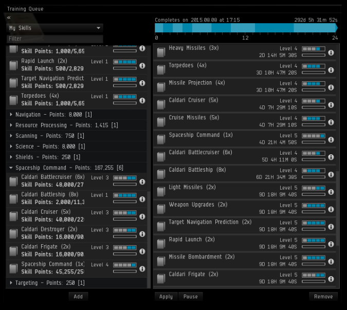 Eve Online's skill queue responsible for its strong virtual world