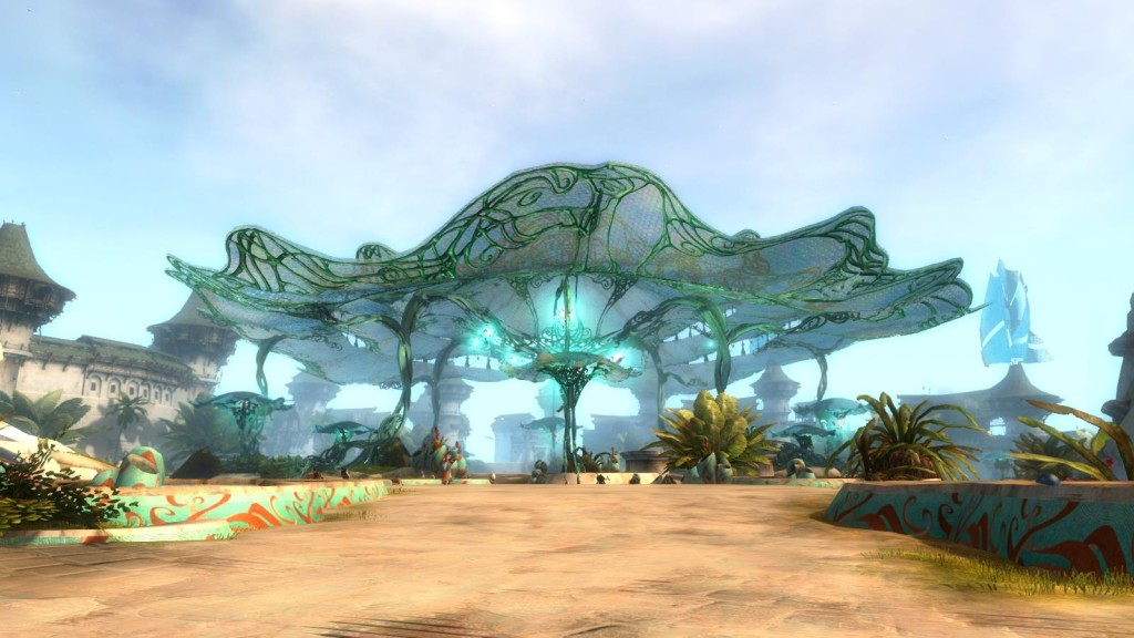The rebuilt city of Lion's Arch in Guild Wars 2