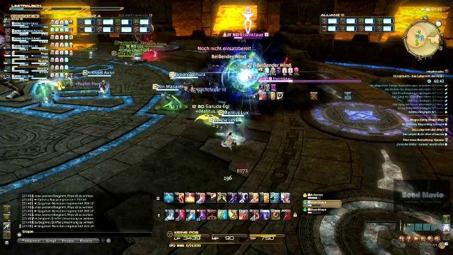 typical MMO endgame raid screenshot