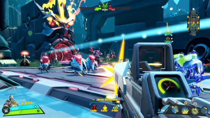 A match in the multiplayer game Battleborn