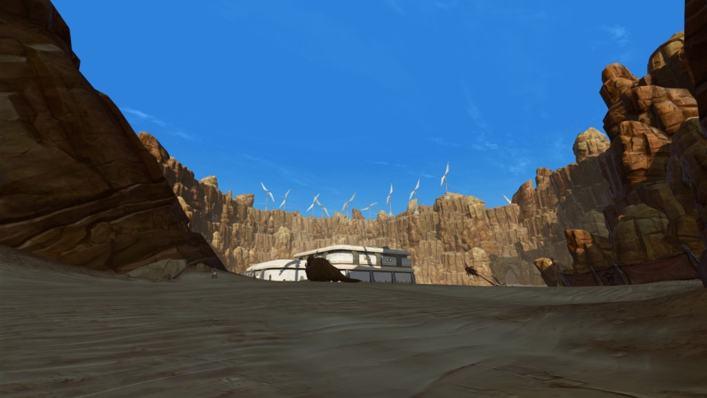 Tatooine, yet another desert zone to drag yourself through