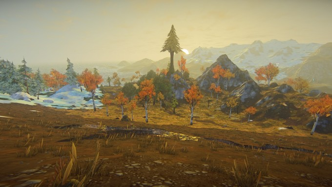 A view of a distant claim in the building MMO Landmark