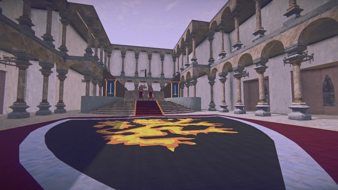 A player-made castle in the building MMO Landmark