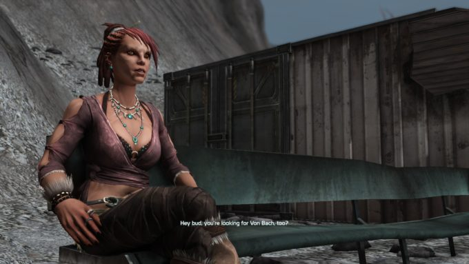 The character Cass Ducar in the MMO shooter Defiance