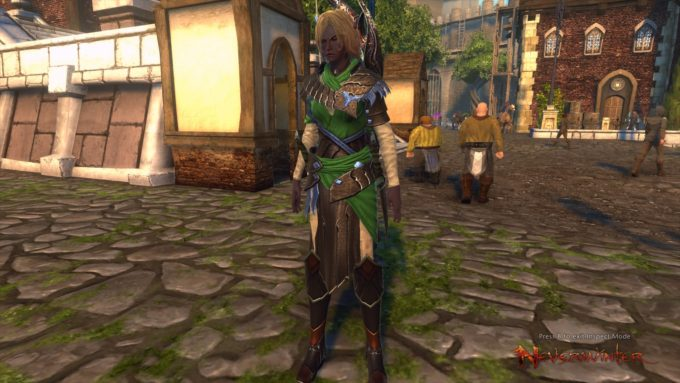 A hunter-ranger character in Neverwinter