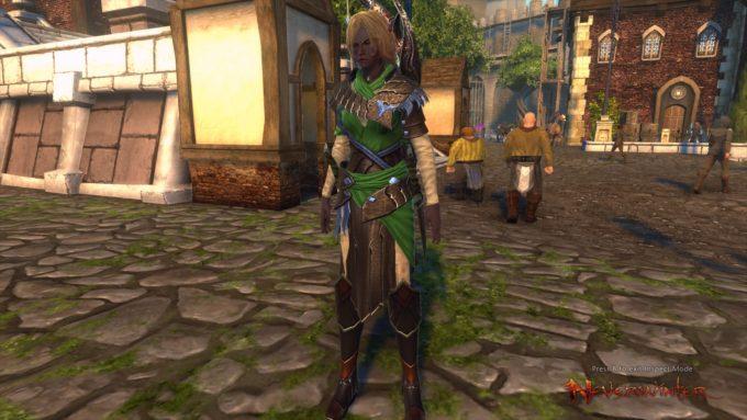A hunter-ranger character in Neverwinter