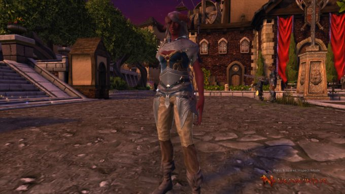 A warlock character in Neverwinter, a game with a very overbearing cash shop