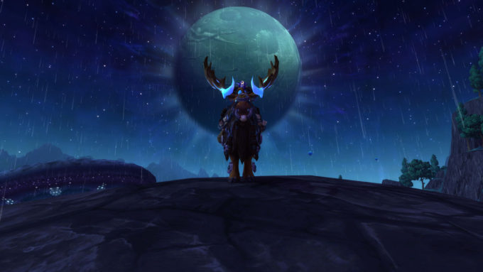 The Grove Warden moose mount in World of Warcraft