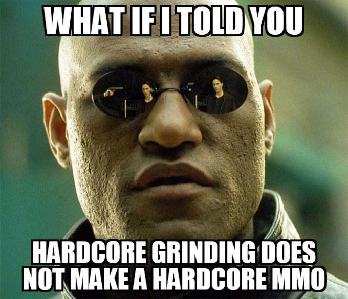 hardcore mmo grinding sucks morpheus image