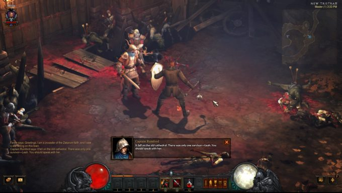 A crusader character in the Western ARPG Diablo III