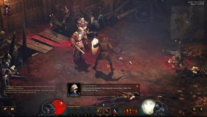 A crusader character in the Western ARPG Diablo III