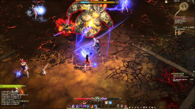 A screenshot from Korean ARPG Devilian