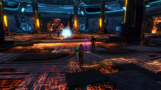 Fighting a raid boss to earn Gree reputation in Star Wars: The Old Republic