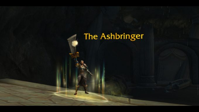Claiming the Ashbringer artifact in World of Warcraft: Legion