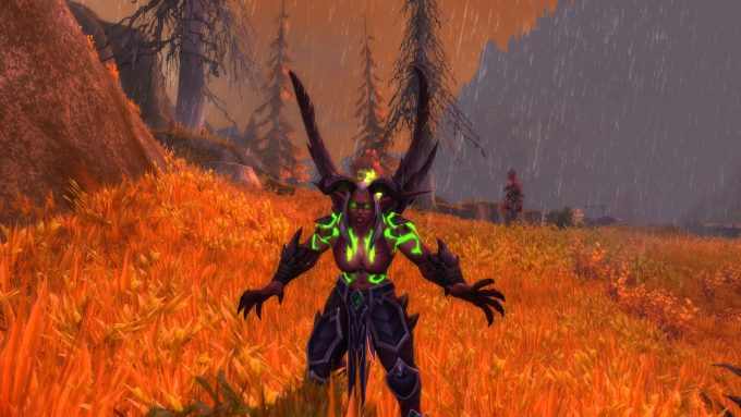 A demon hunter character in World of Warcraft: Legion