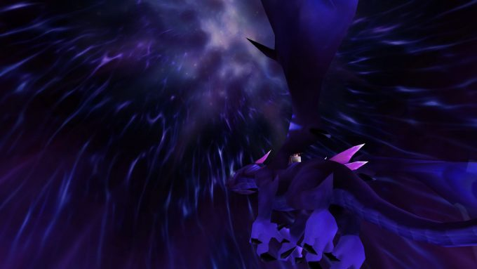 A netherdrake flying mount in World of Warcraft