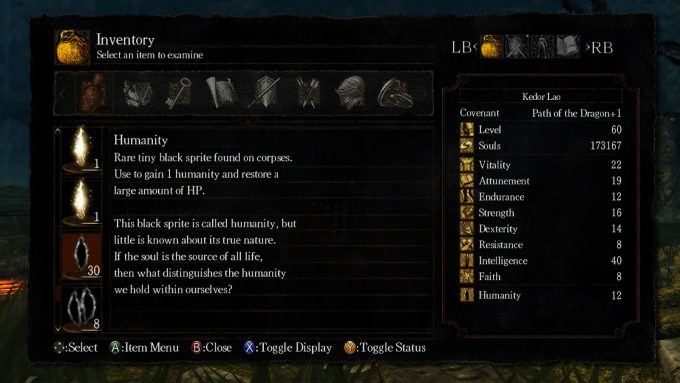 dark souls item lore
