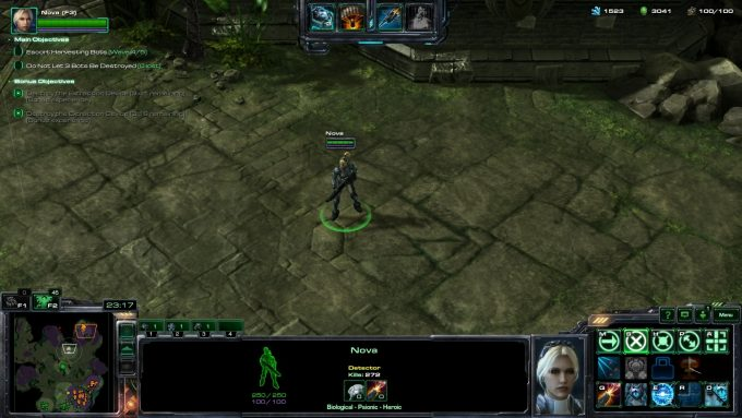 Nova in StarCraft II's co-op
