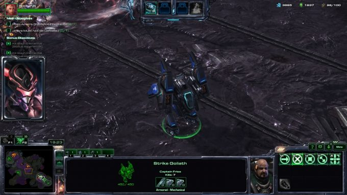 One of Nova's enhanced goliaths in StarCraft II's co-op
