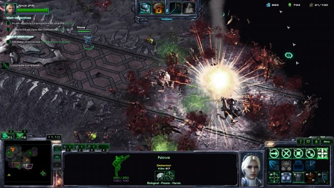 Nova launches a nuclear strike in StarCraft II's co-op