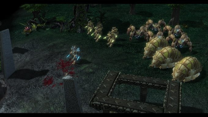 A screenshot from the Mass Recall mod for StarCraft II