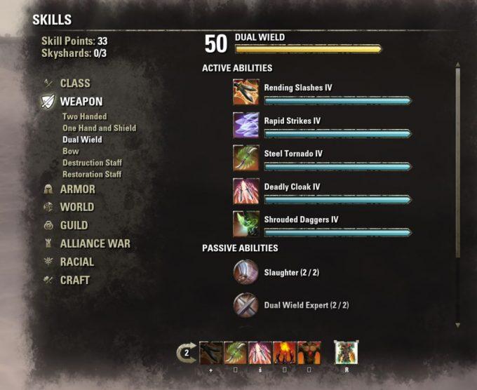 eso skill system