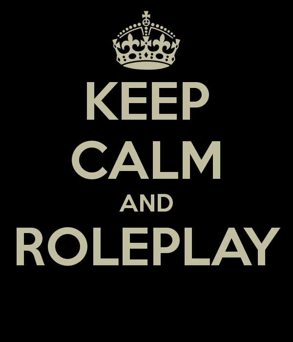 MMORPG Roleplaying - keep calm and roleplay