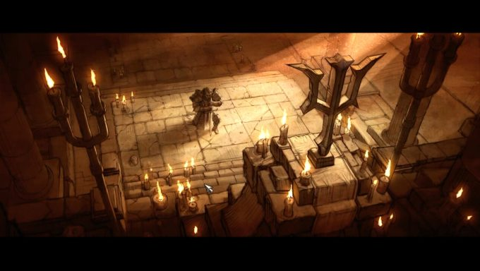 A cutscene from Diablo III's story mode
