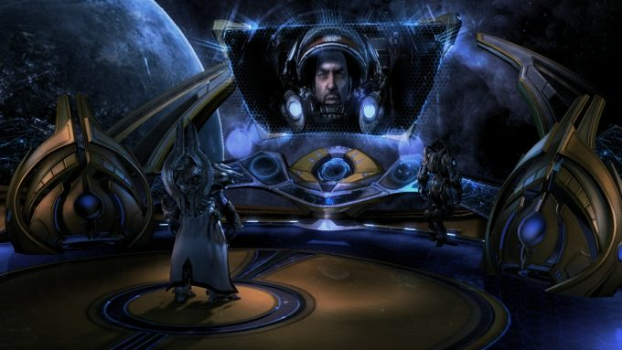 A cutscene in the campaign for StarCraft II: Legacy of the Void