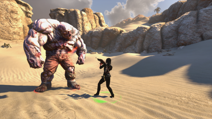 Fighting an event mob during the Rider event in The Secret World.