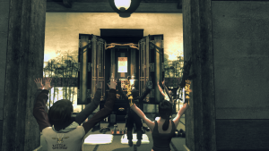 A group of worshippers during the Rider event in The Secret World.