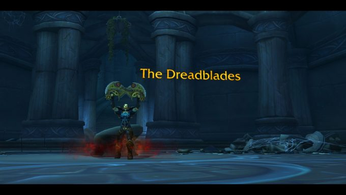 An outlaw claims the Dreadblades artifact in World of Warcraft: Legion